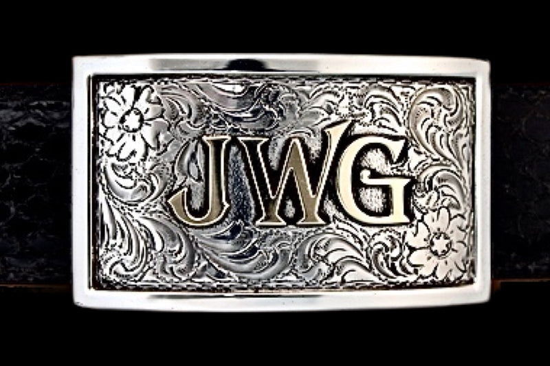 Custom Silver Buckle - Solid Silver