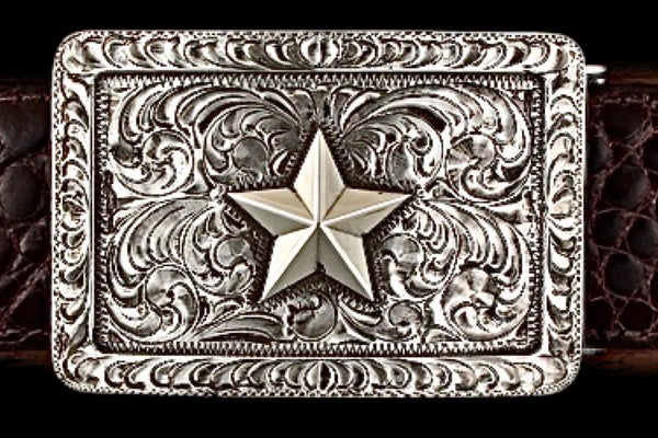 Texas Scroll - Solid Silver