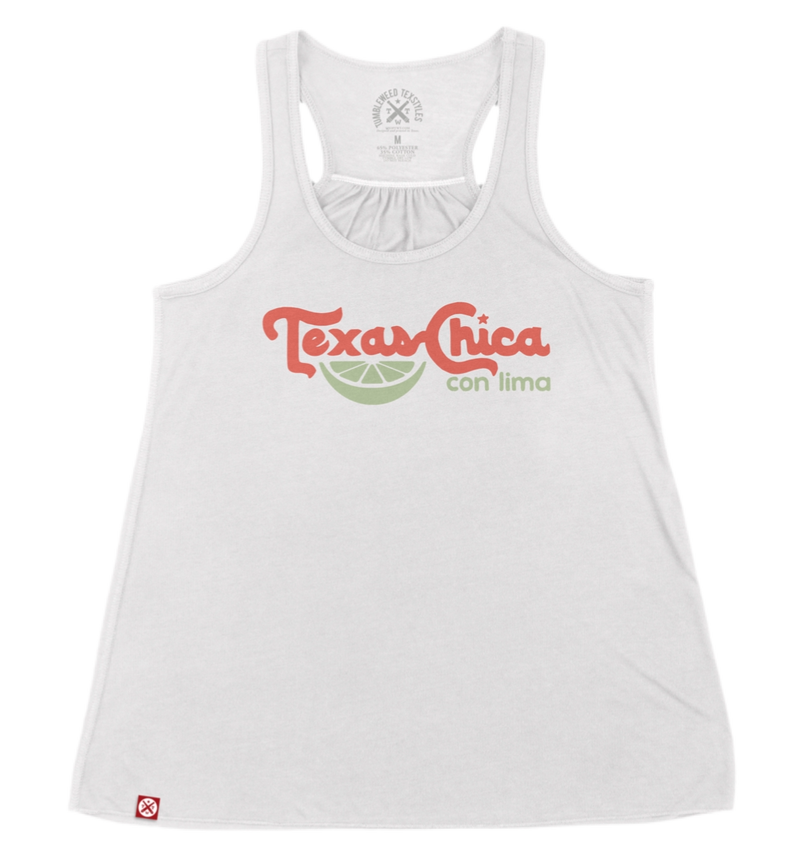 TEXAS CHICA CON LIMA FLOWY RACERBACK TANK
