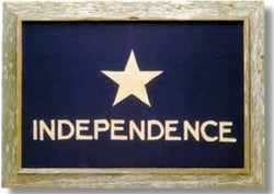 Texas Independence Flag with Barnwood Frame