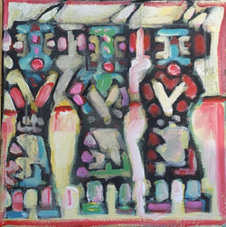 """Three Kachinas"" 12 by 12 inches - Tom Russell"