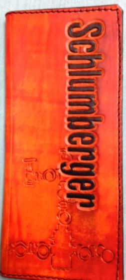 Custom Leather Tally Book Texas National Outfitters
