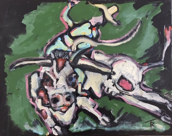"""Into the Wild - The Bull Rider,"" 16 by 20 inches - Tom Russell"