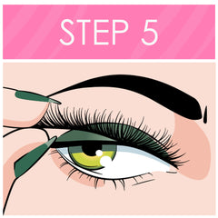 Apply magnetic lashes to magnetic eyeliner