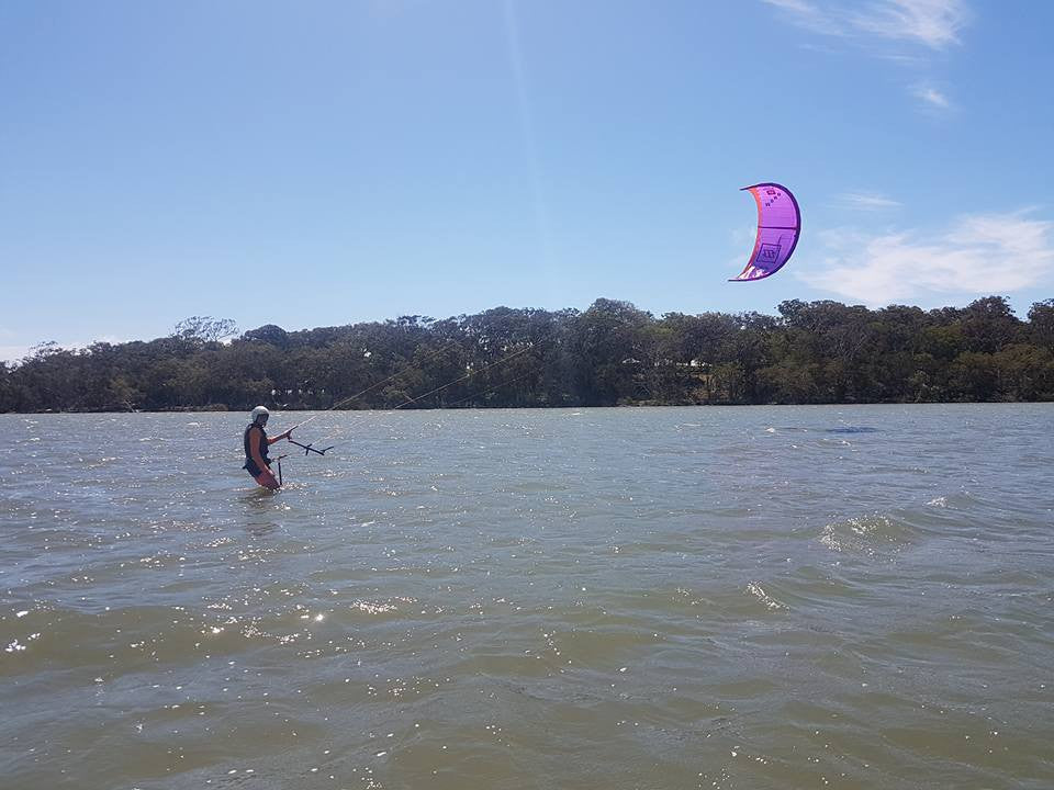 Never too old to learn to Kitesurf