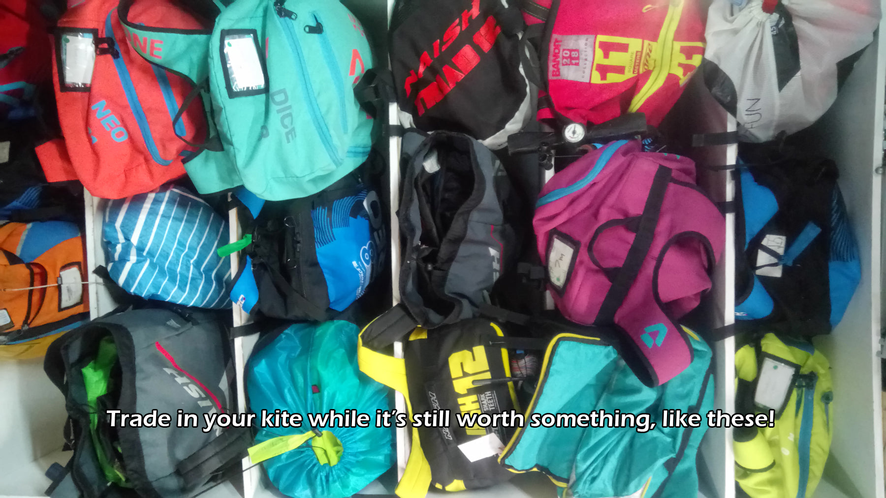 Trade in kitesurfing equipment while it's still worth something second hand