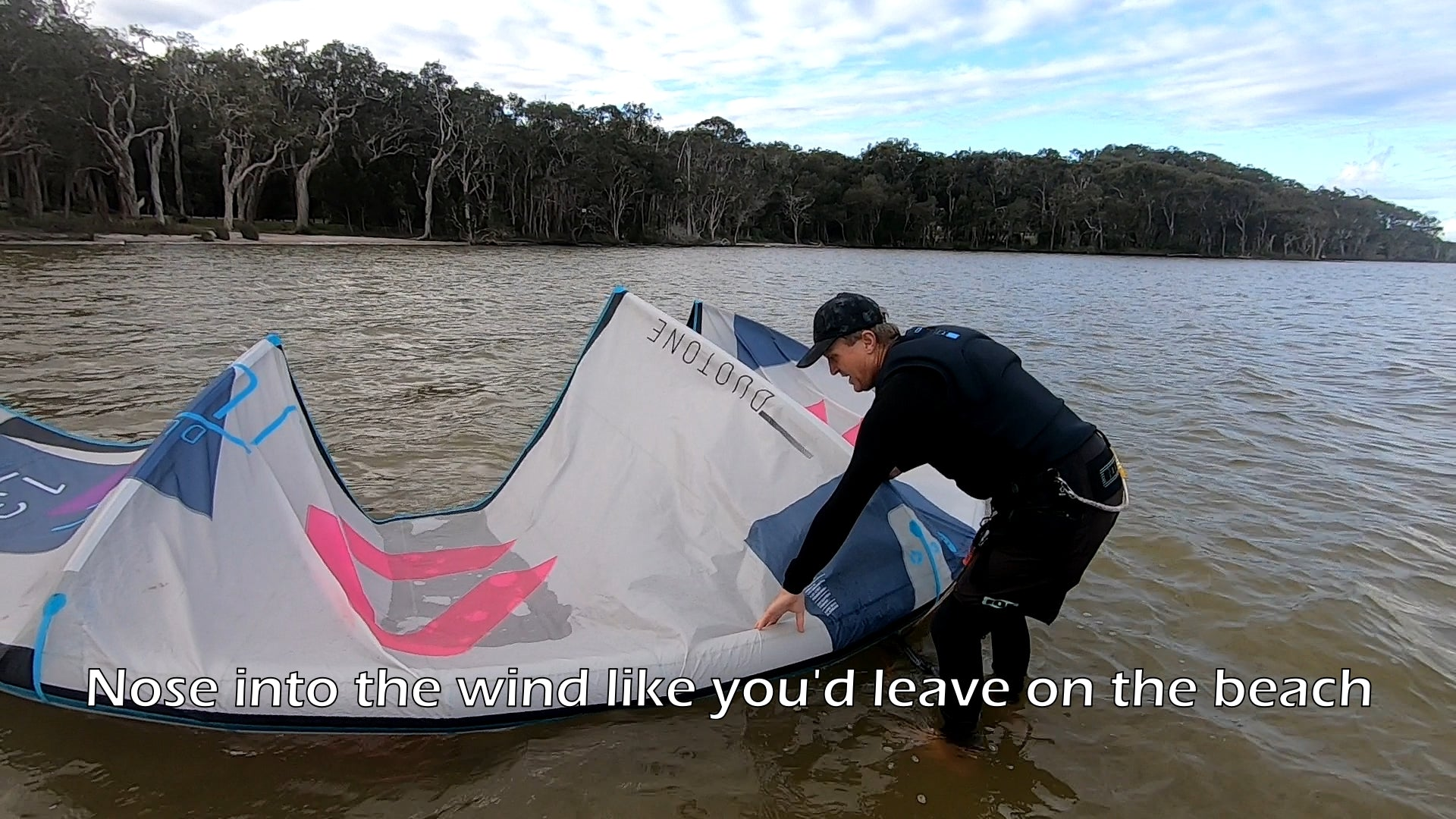 Performing a Kitesurfing Drift Launch Safely
