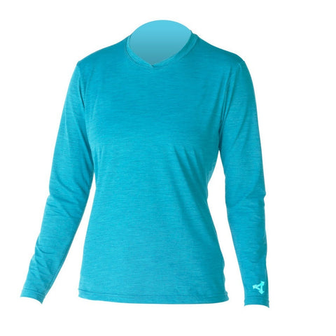 Xcel Womens Lana LS Ventx- Heathered Ocean Blue
