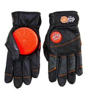 Blood Orange Leather Slide Gloves
