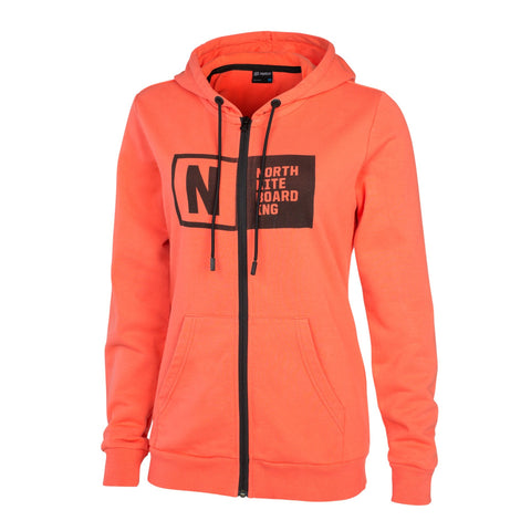 North Womens Zip Team Hoody
