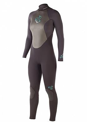 Xcel 3/2mm Womens SLX Offset zip fullsuit
