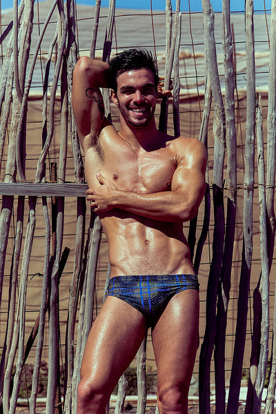 African Tribal Print Swim Brief