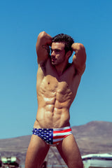 American Flag Swim Brief