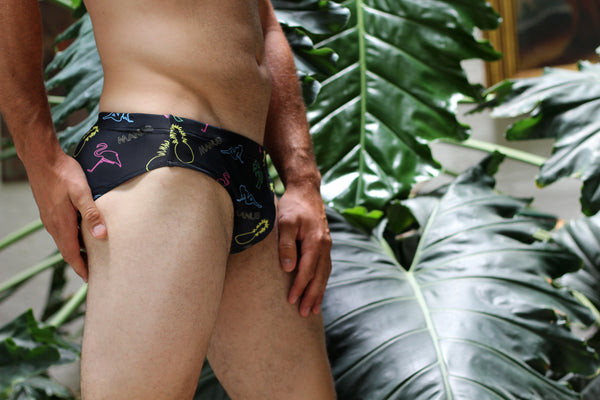 Neon Nights Swim Brief