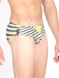 Neon Zebra Swim Brief