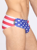 Manus Men's Swimwear USA Flag Swim Brief