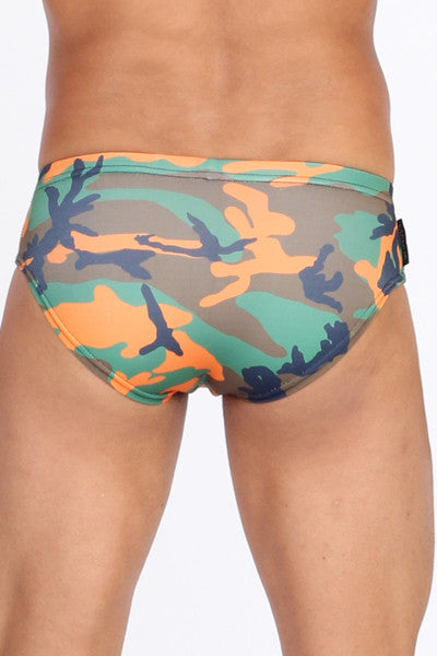 Camouflage Orange Swim Brief