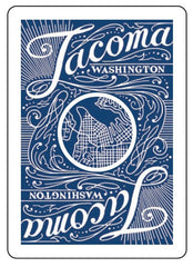 Tacoma Playing Cards - Blue Deck