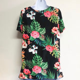 Tropical Print Short Sleeved Top