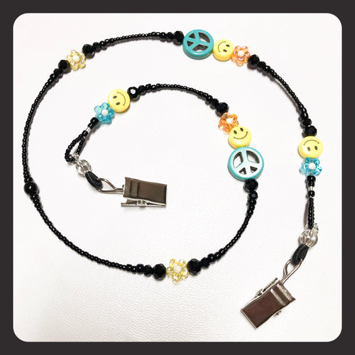 Groovy 60's Retro Face Mask Necklace