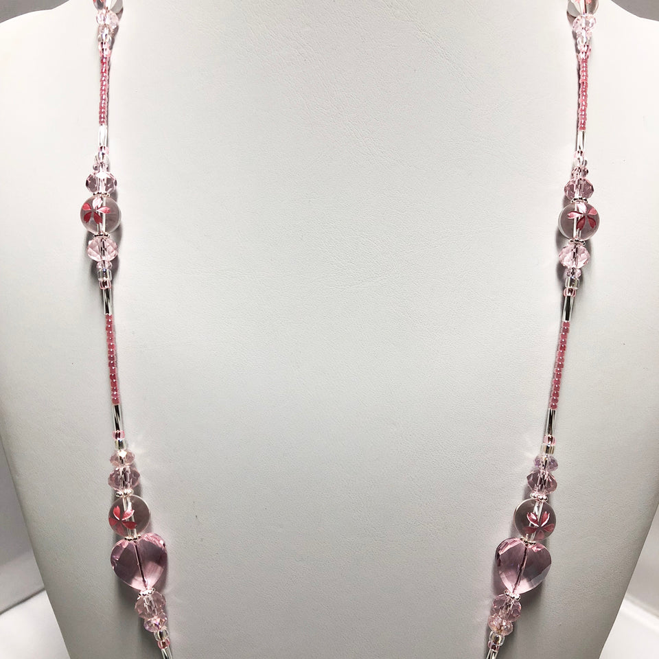 Crystal Cherry Blossom Lanyard