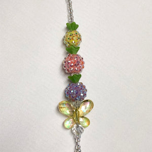 Multicolored Pineapple & Butterfly Key Leash