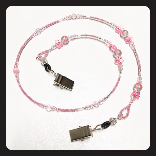 Cherry Blossom Face Mask Necklace