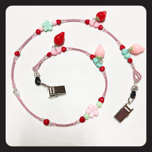 Strawberry Love Face Mask Necklace