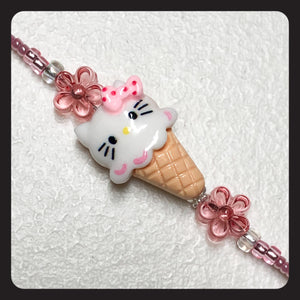 Ice Cream Hello Kitty Face Mask Leash