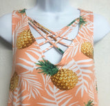 Pineapple Criss Cross Top