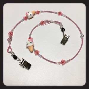 Ice Cream Hello Kitty Face Mask Necklace