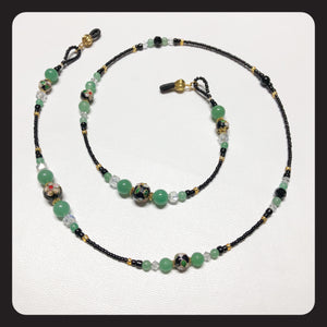 Aventurine Cloisonné Eyeglass Necklace