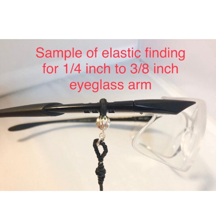 Hematite Stars Eyeglass Holders