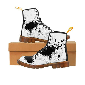 Splatter Paint Men's Canvas Boots - BellaNiecele