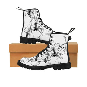 Open image in slideshow, Drawn Floral Women's Canvas Boots - BellaNiecele