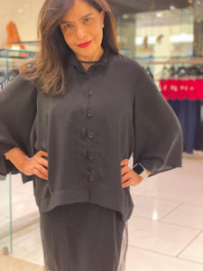 Bell Sleeve Button Down Blouse - BellaNiecele