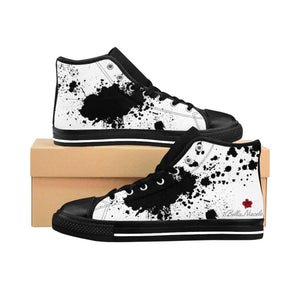Splatter Print Men's High-top Sneakers - BellaNiecele