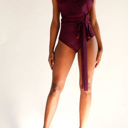 Wrap Front Bodysuit - BellaNiecele