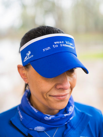 Blue Running Visor