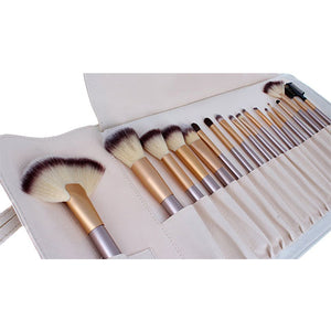 Champagne Make Up Brush Set - 18 Piece - Beau Belle Brushes