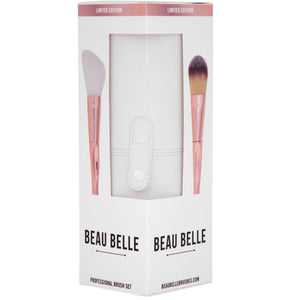 Limited Edition Rose Gold Make Up Brush Pot - 10 Piece - Beau Belle Brushes