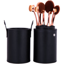 Load image into Gallery viewer, Oval Mastery Make Up Brush Pot - 8 Piece - Beau Belle Brushes