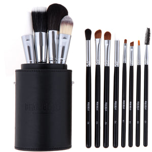 Complete Black Make Up Brush Pot - 12 Piece - Beau Belle Brushes