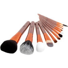 Load image into Gallery viewer, Complete Bronze Make Up Brush Pot - 12 Piece - Beau Belle Brushes