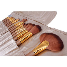 Load image into Gallery viewer, Premium Gold Make Up Brush Kit - 21 Piece - Beau Belle Brushes