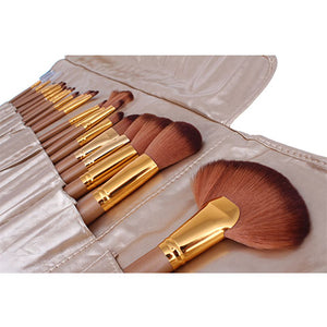 Premium Gold Make Up Brush Kit - 21 Piece - Beau Belle Brushes