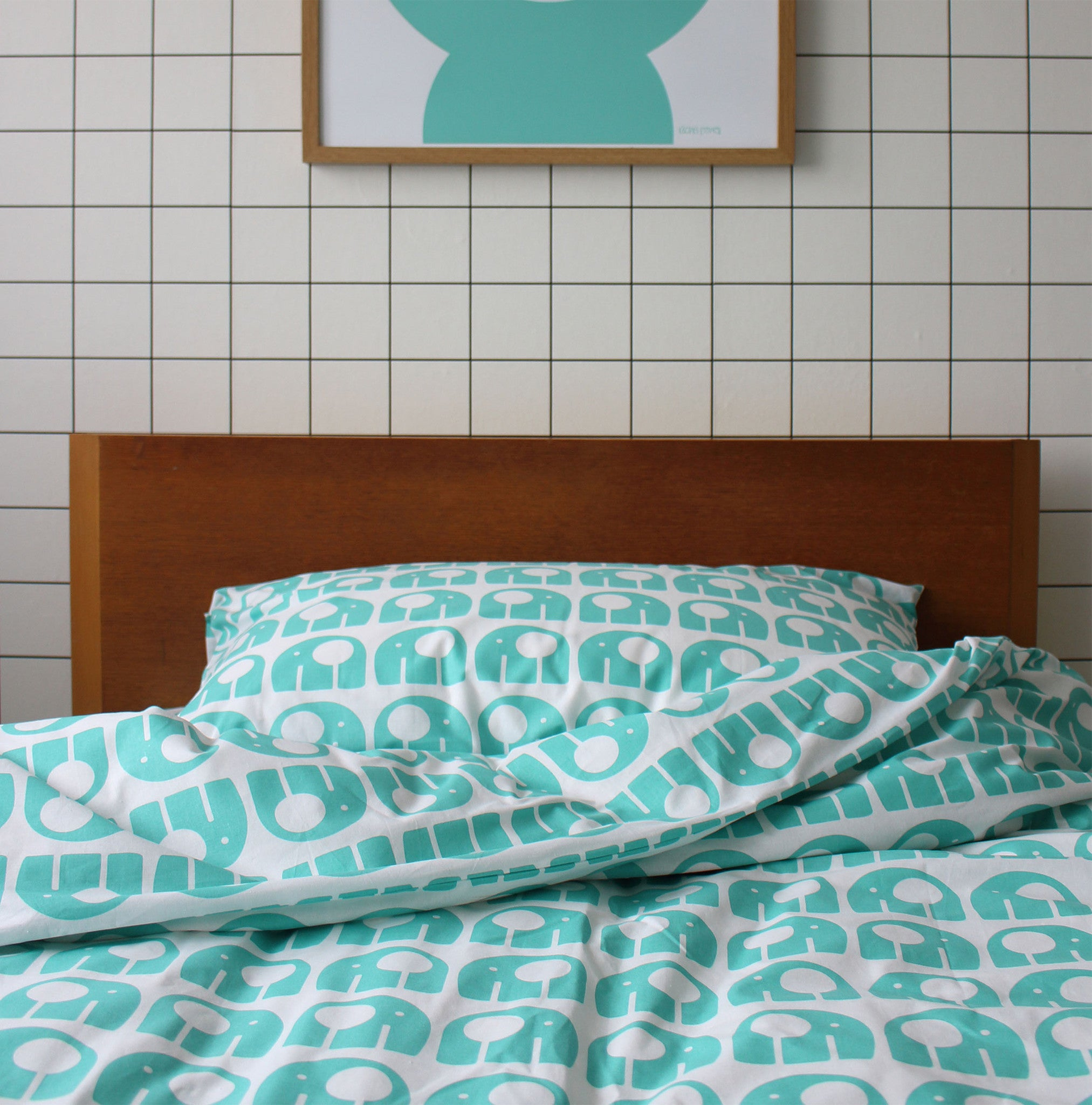 ... Rachel Powell Elephant Kids Bedding Set Single ...