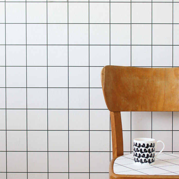 A Cool Grid Wallpaper In Black Perfect For Adding Some Scandi Style To Any Room
