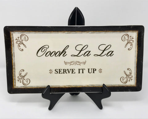"DEMDACO ""Ooooh La La"" Platter, Multicolored Kitchen Decor Gift for Her New! - Regalo Di Lusso"