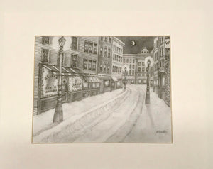 First Snow Signed Print by Pam Chester the Perfect Housewarming Gift - Regalo Di Lusso